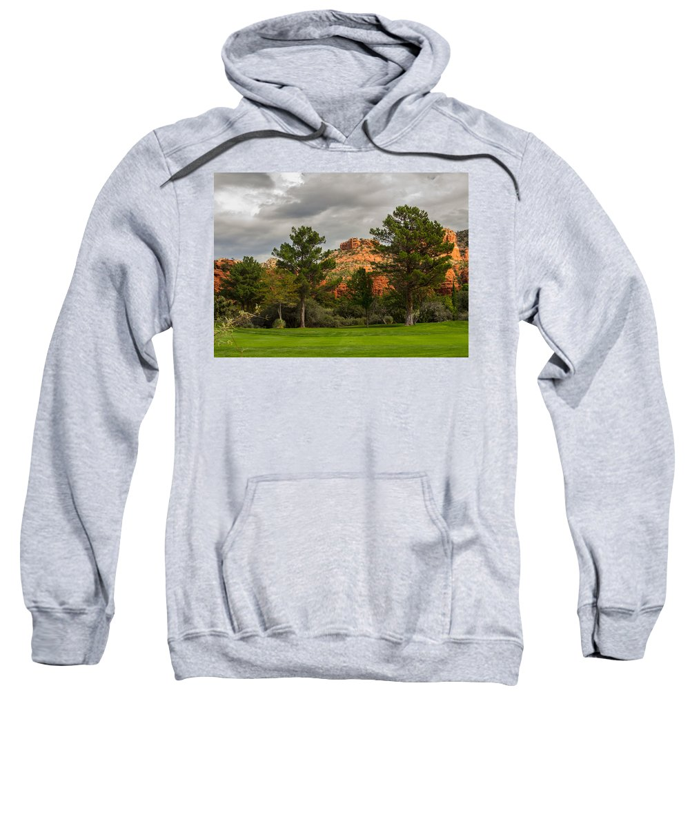 Fairway Sweatshirt featuring the photograph Red Rock Fairway by Susan Westervelt