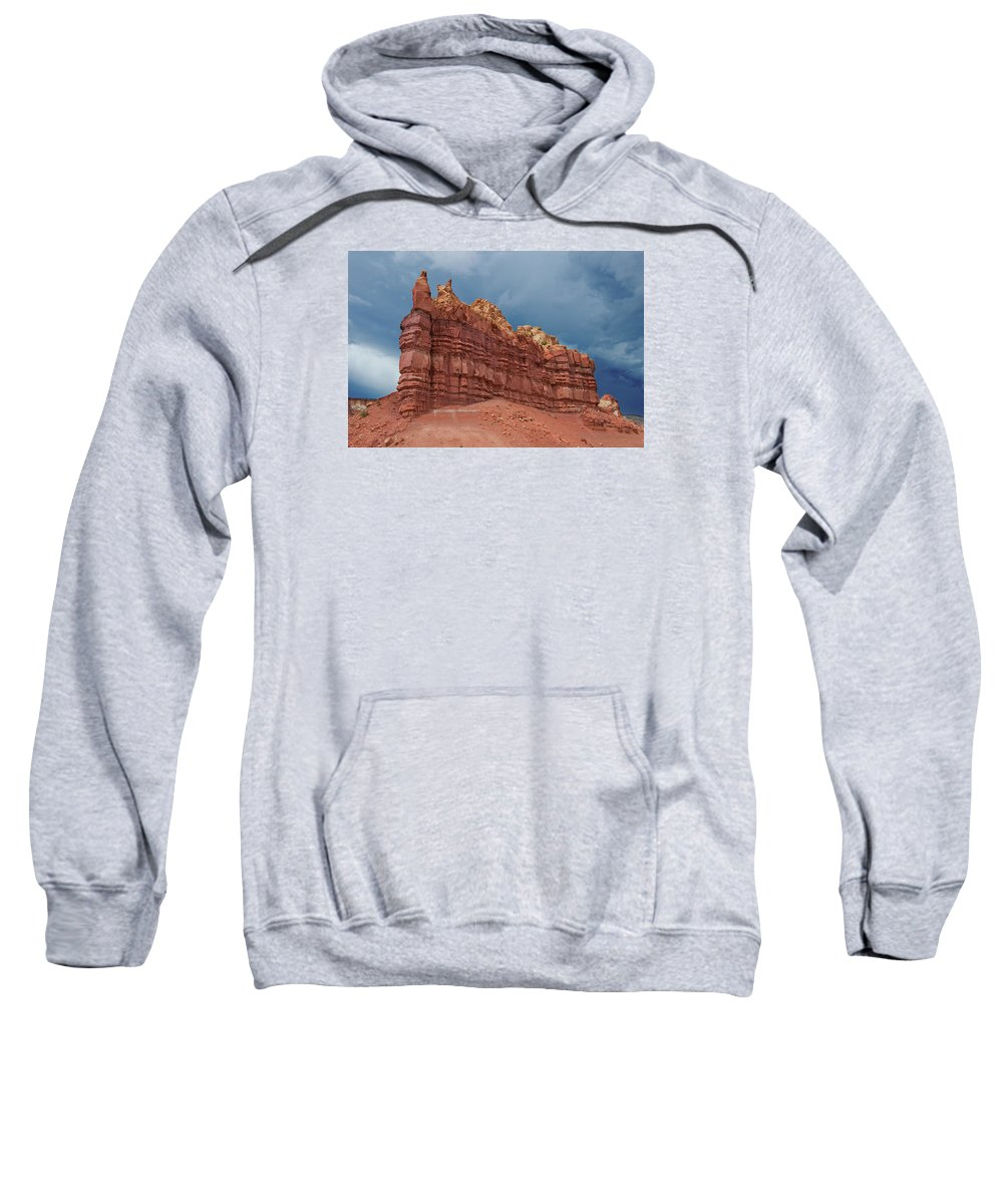Southwest Usa Sweatshirt featuring the photograph Red Rock Formation by Alan Toepfer