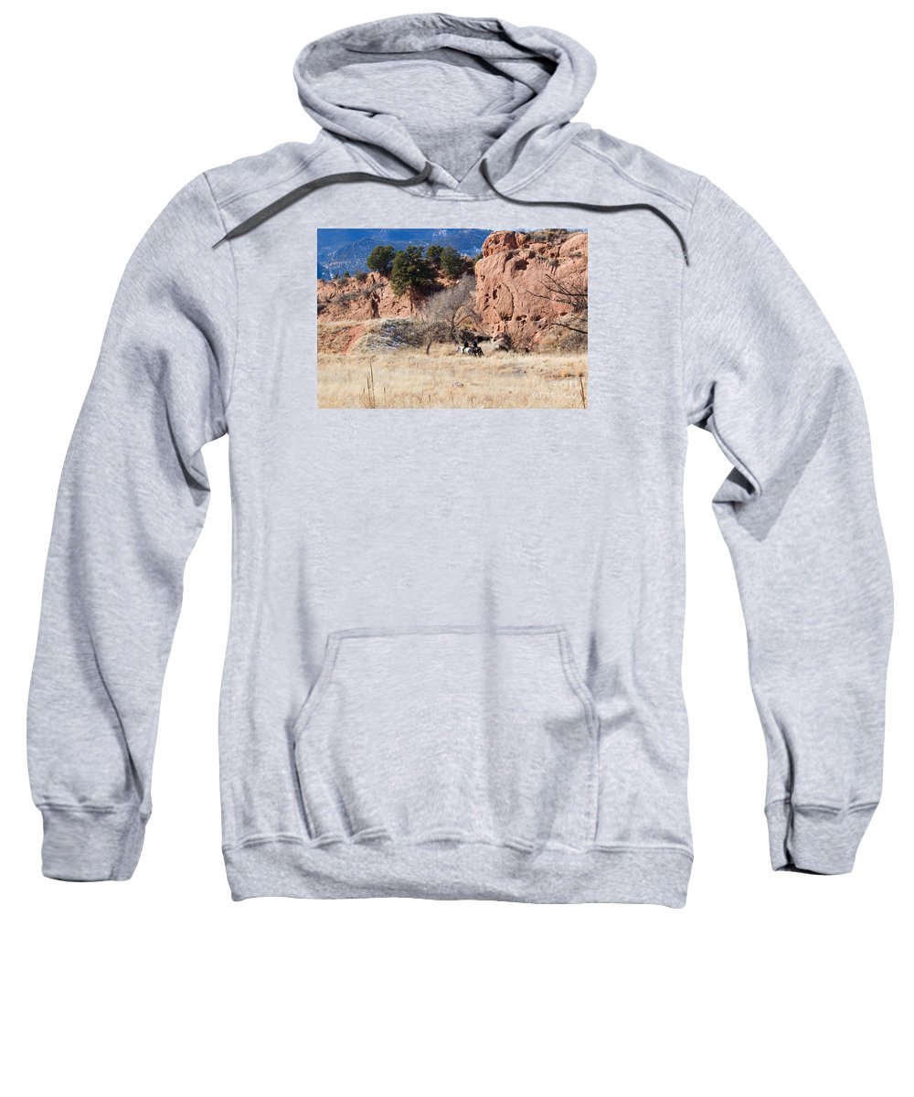 Horse Sweatshirt featuring the photograph Red Rock Riders by Steve Krull