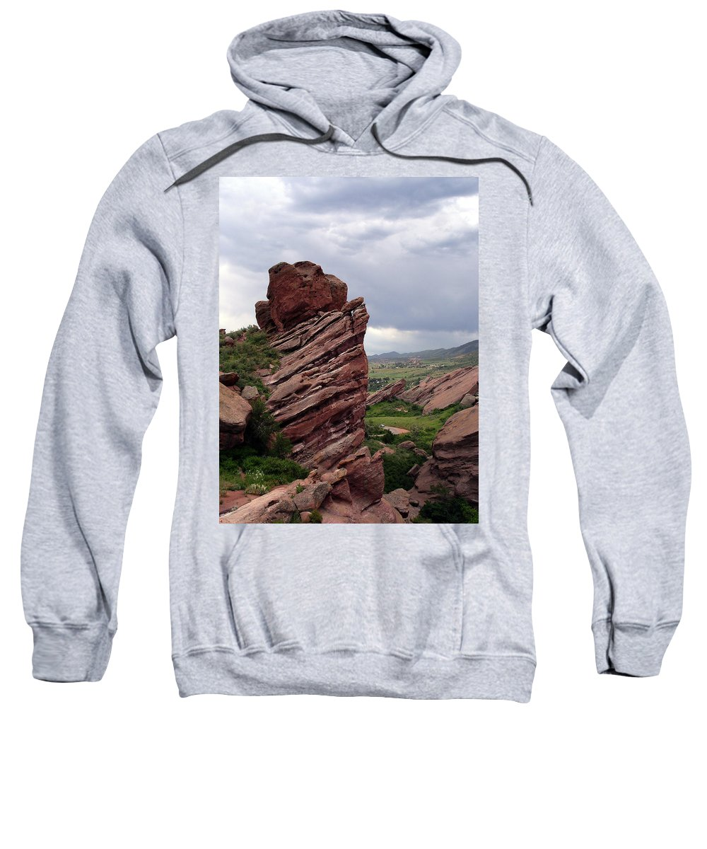 Red Rocks Sweatshirt featuring the photograph Red Rocks Colorado by Merja Waters