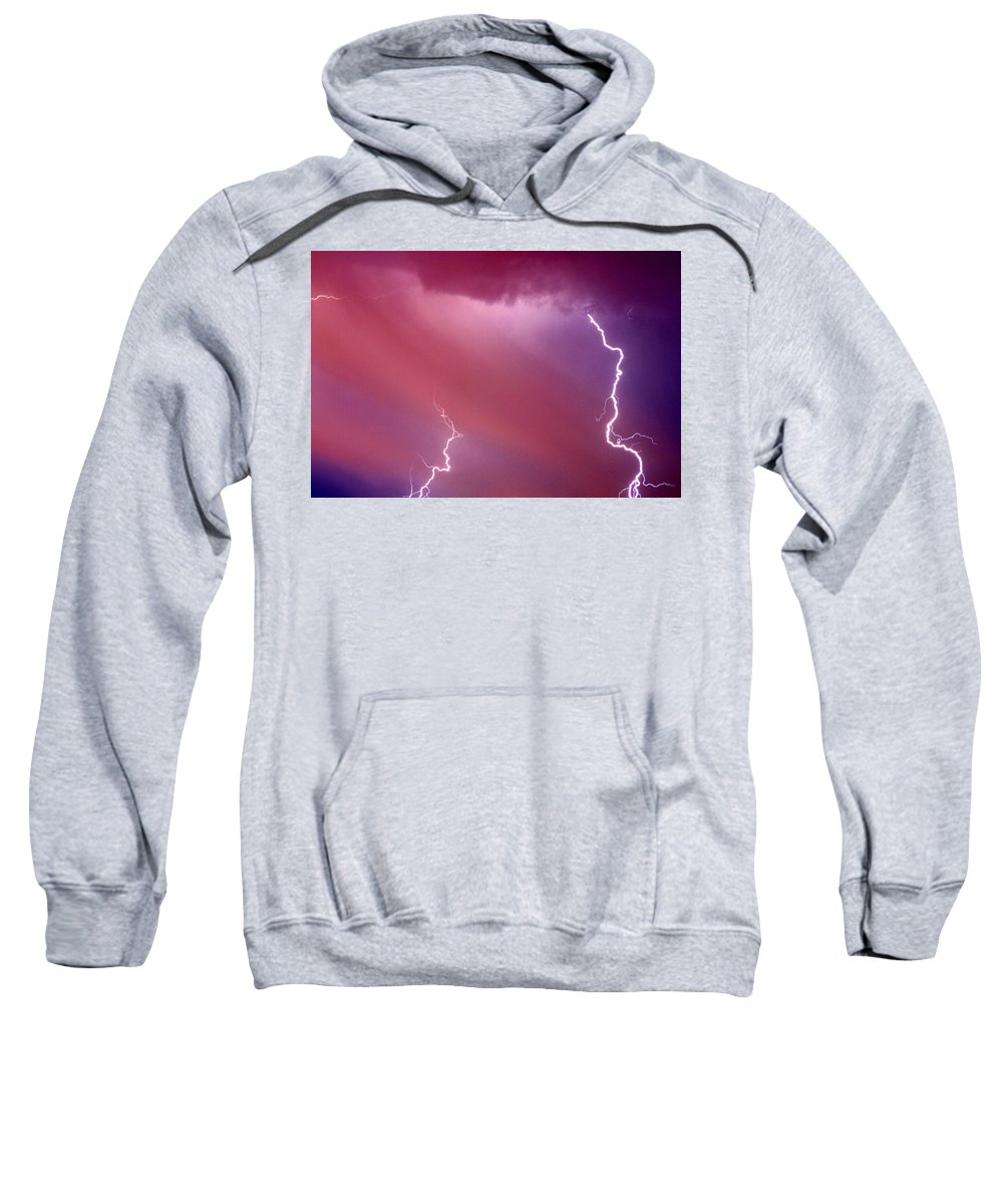 Sky Sweatshirt featuring the photograph Red Storm by Anthony Jones
