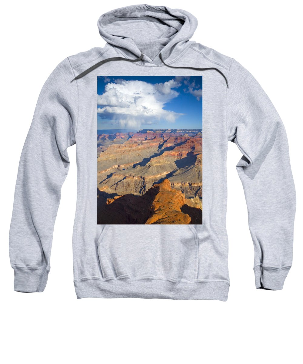 Grand Canyon Sweatshirt featuring the photograph Red Storm Rising by Mike Dawson