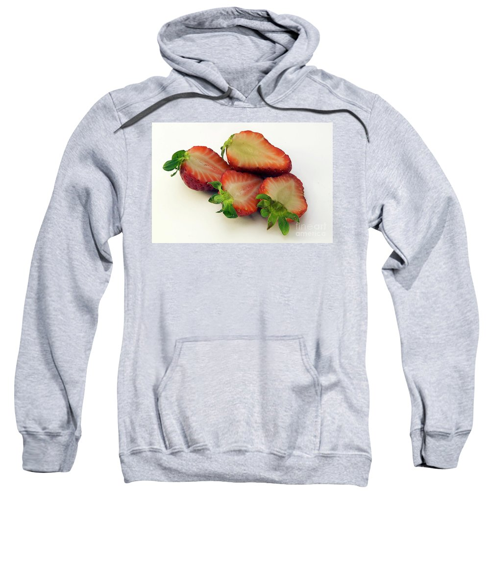 Fruits Sweatshirt featuring the photograph Red Strawberry by Elvira Ladocki