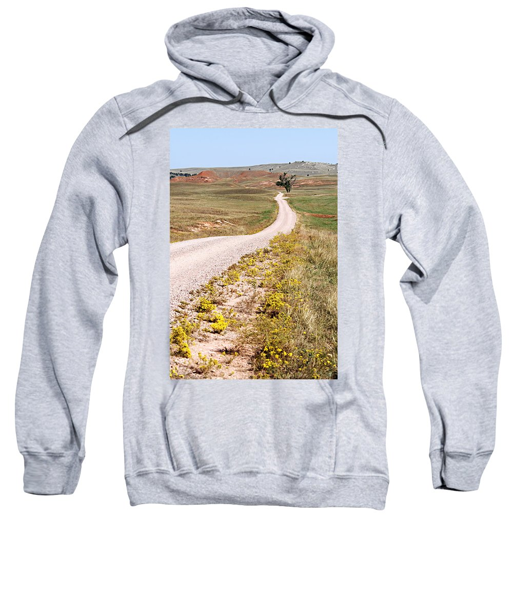 Red Valley Road Sweatshirt featuring the photograph Red Valley Road by Larry Ricker