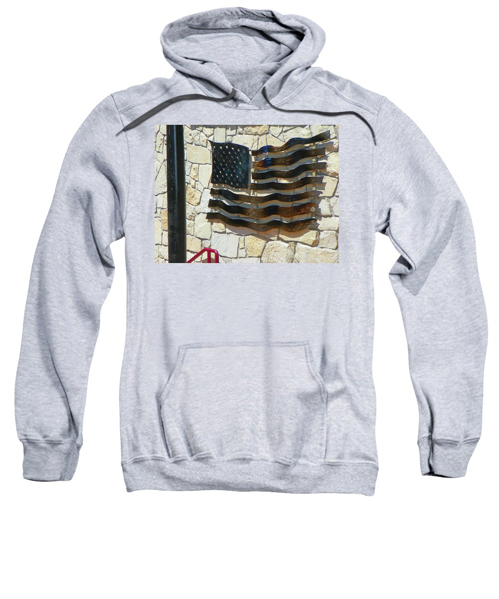 Abstract Sweatshirt featuring the photograph Red-white And A Little Blue by Lenore Senior