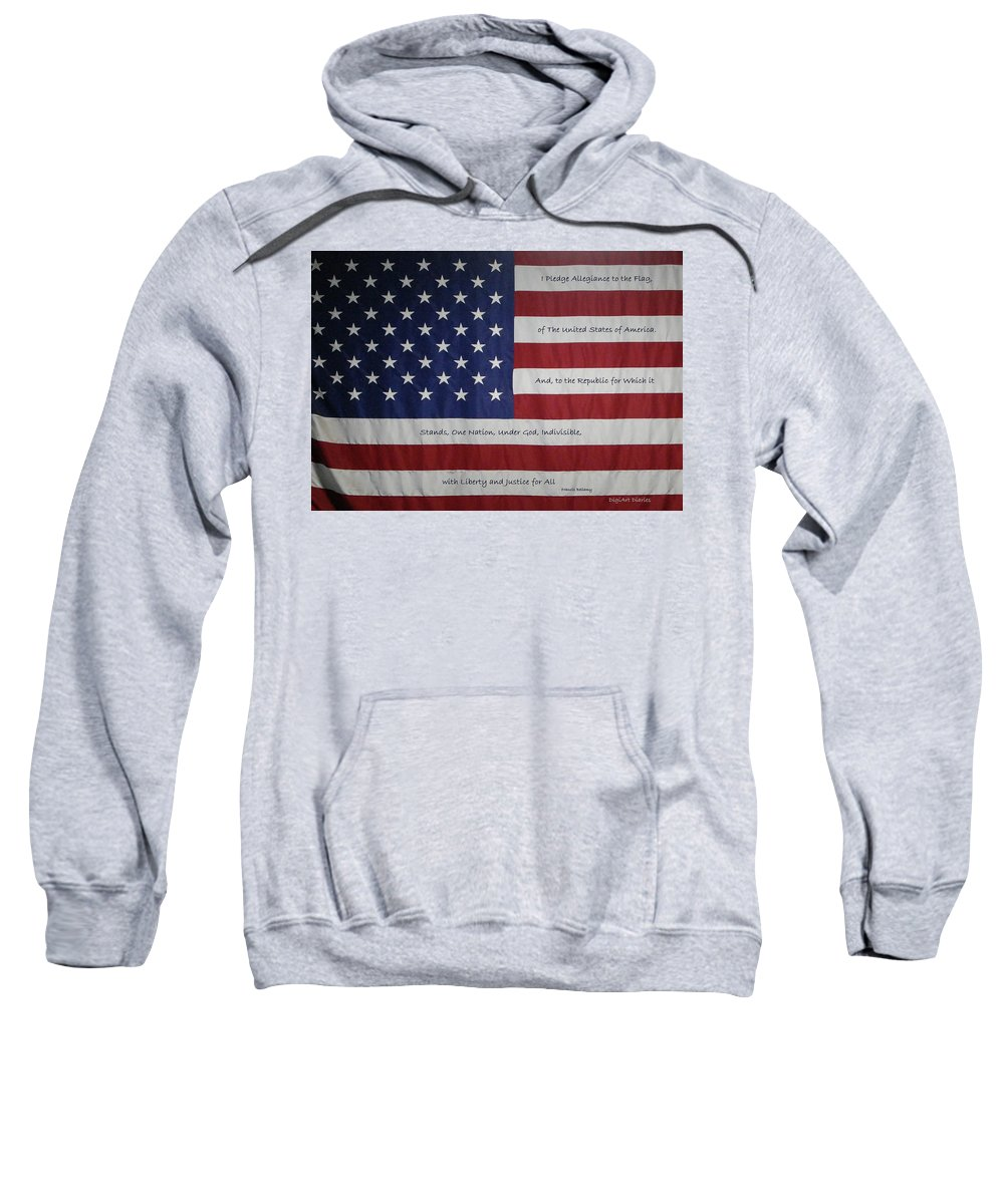 America Sweatshirt featuring the digital art Red White And True by DigiArt Diaries by Vicky B Fuller