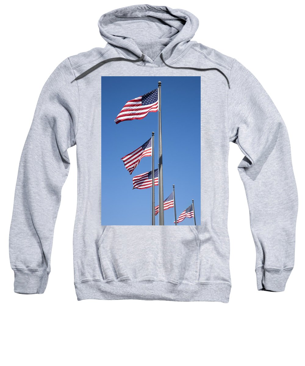 Flags Sweatshirt featuring the photograph Red White Blue by Kelley King