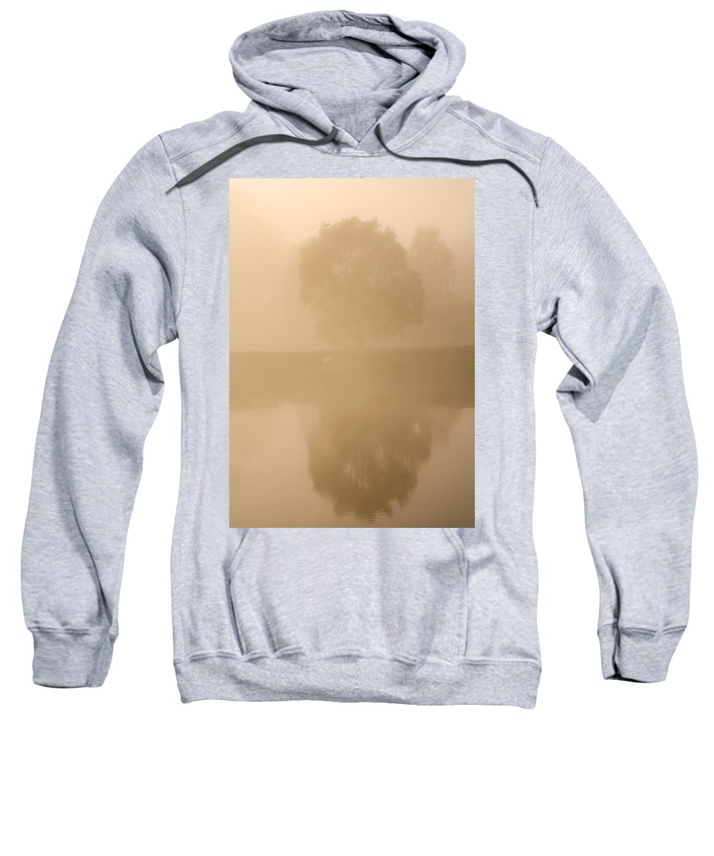 Reflection Sweatshirt featuring the photograph Reflected Gum Sunrise by Mike Dawson