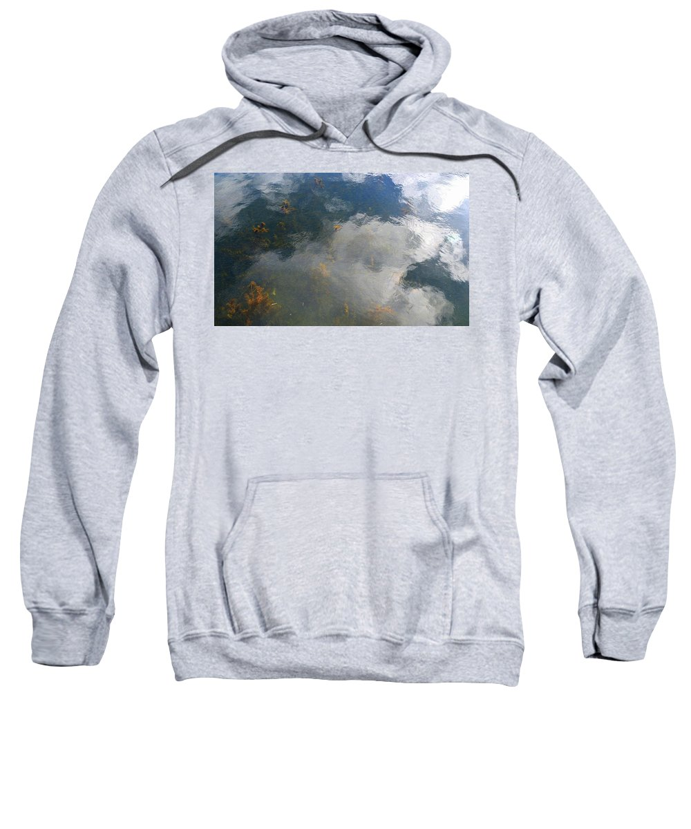 Nature Sweatshirt featuring the photograph Reflecting Clouds In The Water by Lyle Crump