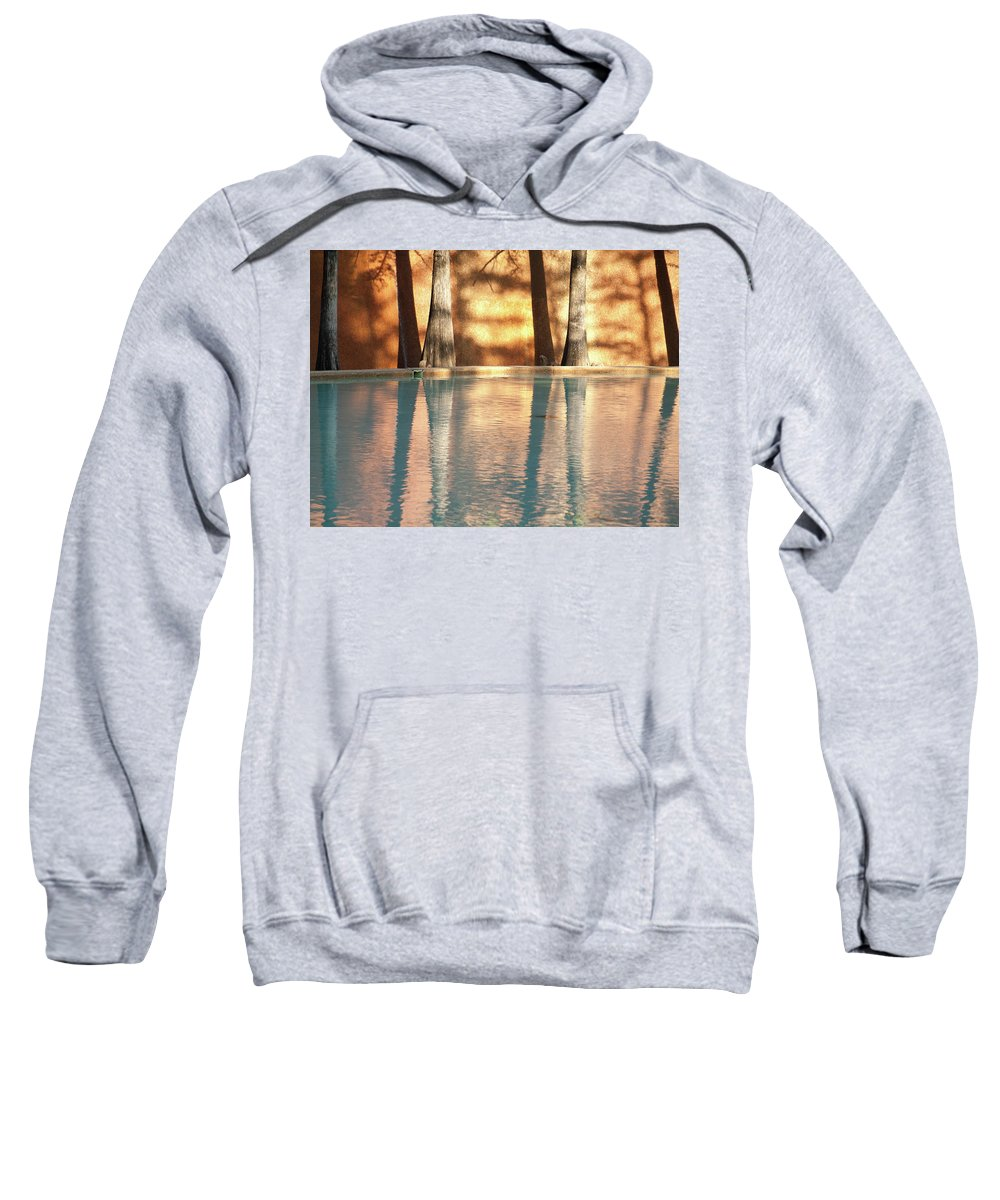 Trees Sweatshirt featuring the photograph Reflecting Trees by Ken Kirk