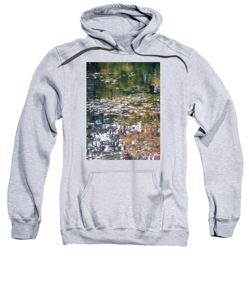 Water Sweatshirt featuring the photograph Fall Reflections 4 On Jamaica Pond by Giora Hadar