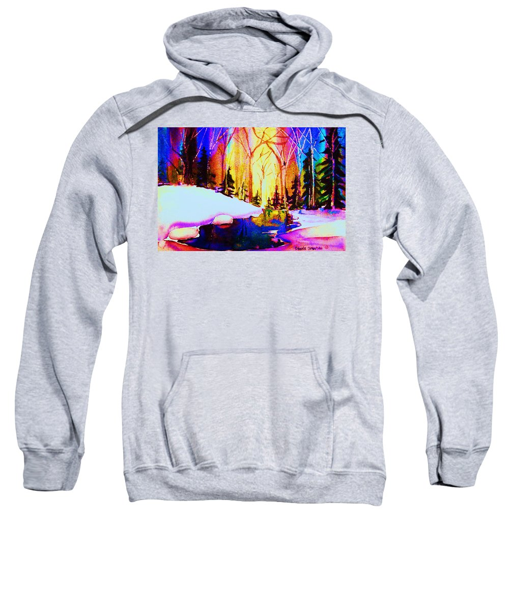 Reflections Sweatshirt featuring the painting Reflection by Carole Spandau