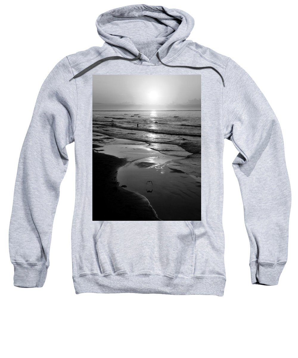 Morning Sweatshirt featuring the photograph Reflection Of Bird In Flight by Marilyn Hunt
