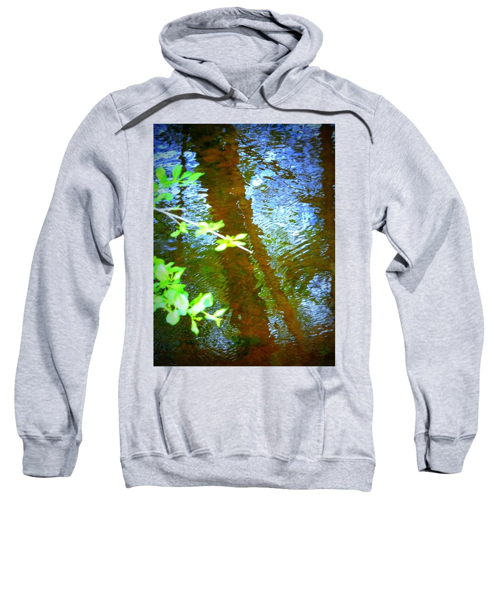 Stream Sweatshirt featuring the photograph Reflection by Susan Lafleur