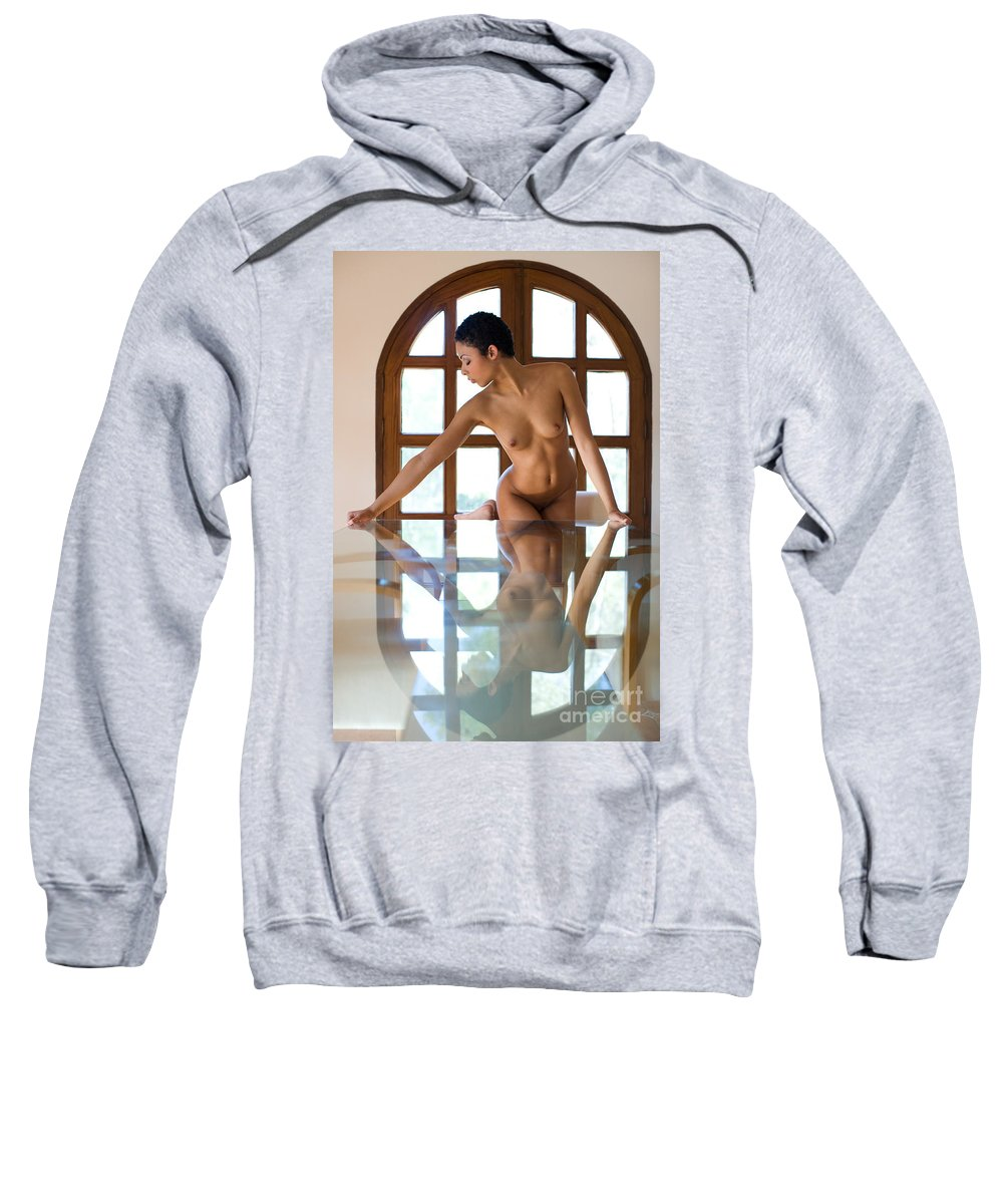 Sensual Sweatshirt featuring the photograph Reflection Time Again by Olivier De Rycke