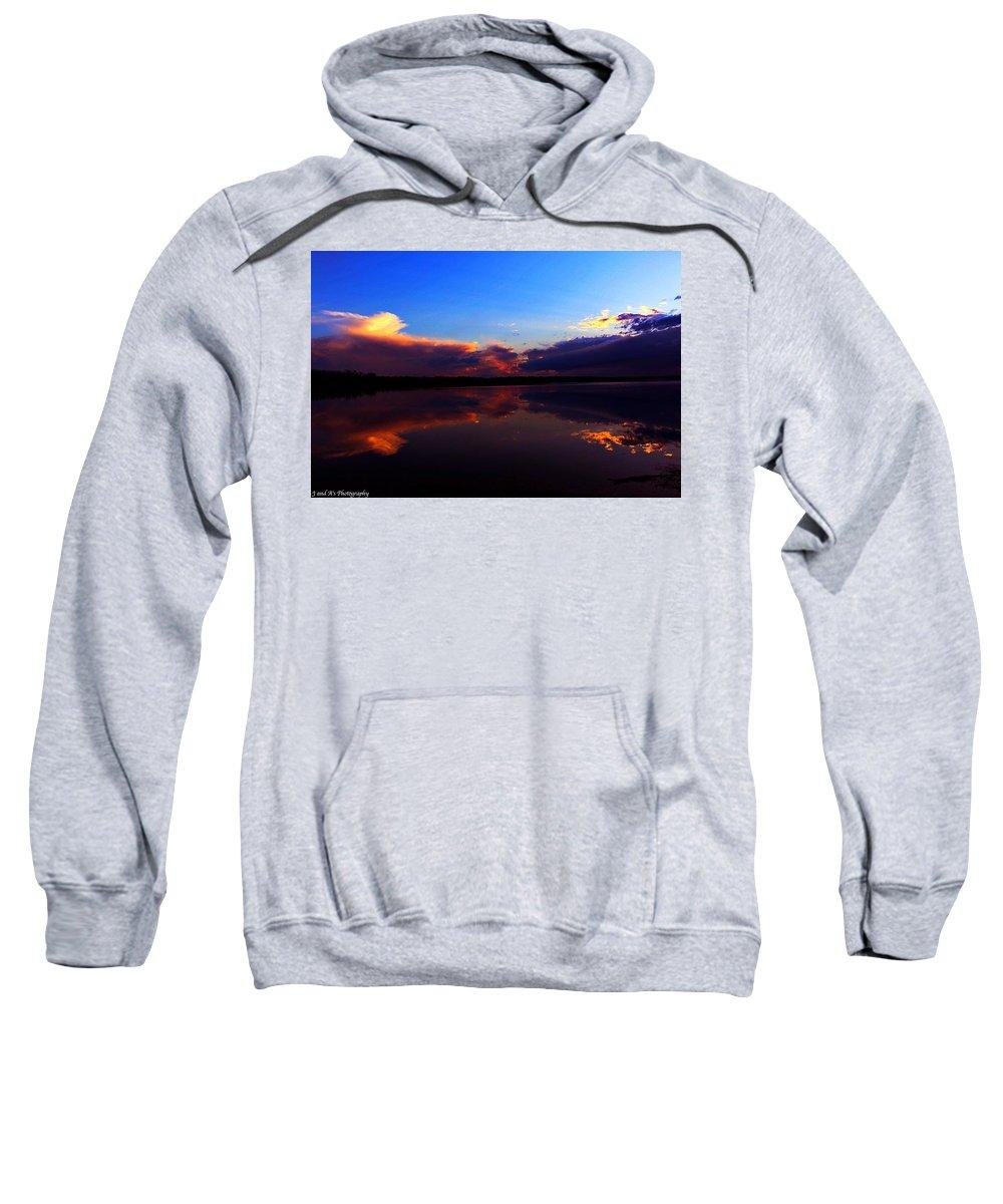 Reflections Montezuma Flats New York Sweatshirt featuring the photograph Reflections by Justyn Ripley