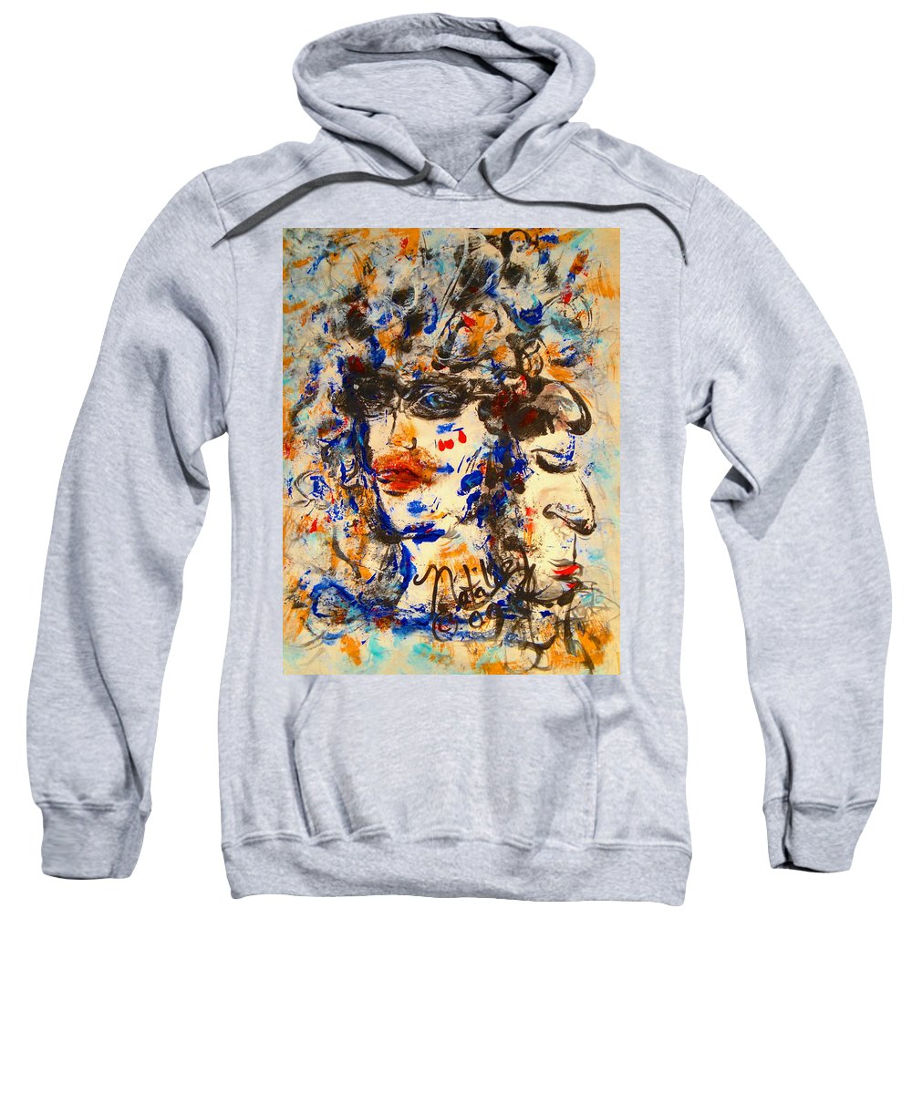 Free Expressionism Sweatshirt featuring the painting Reflections by Natalie Holland