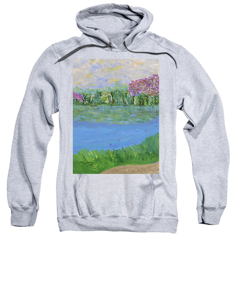 Landscape Sweatshirt featuring the painting Reflections Of by Sara Credito