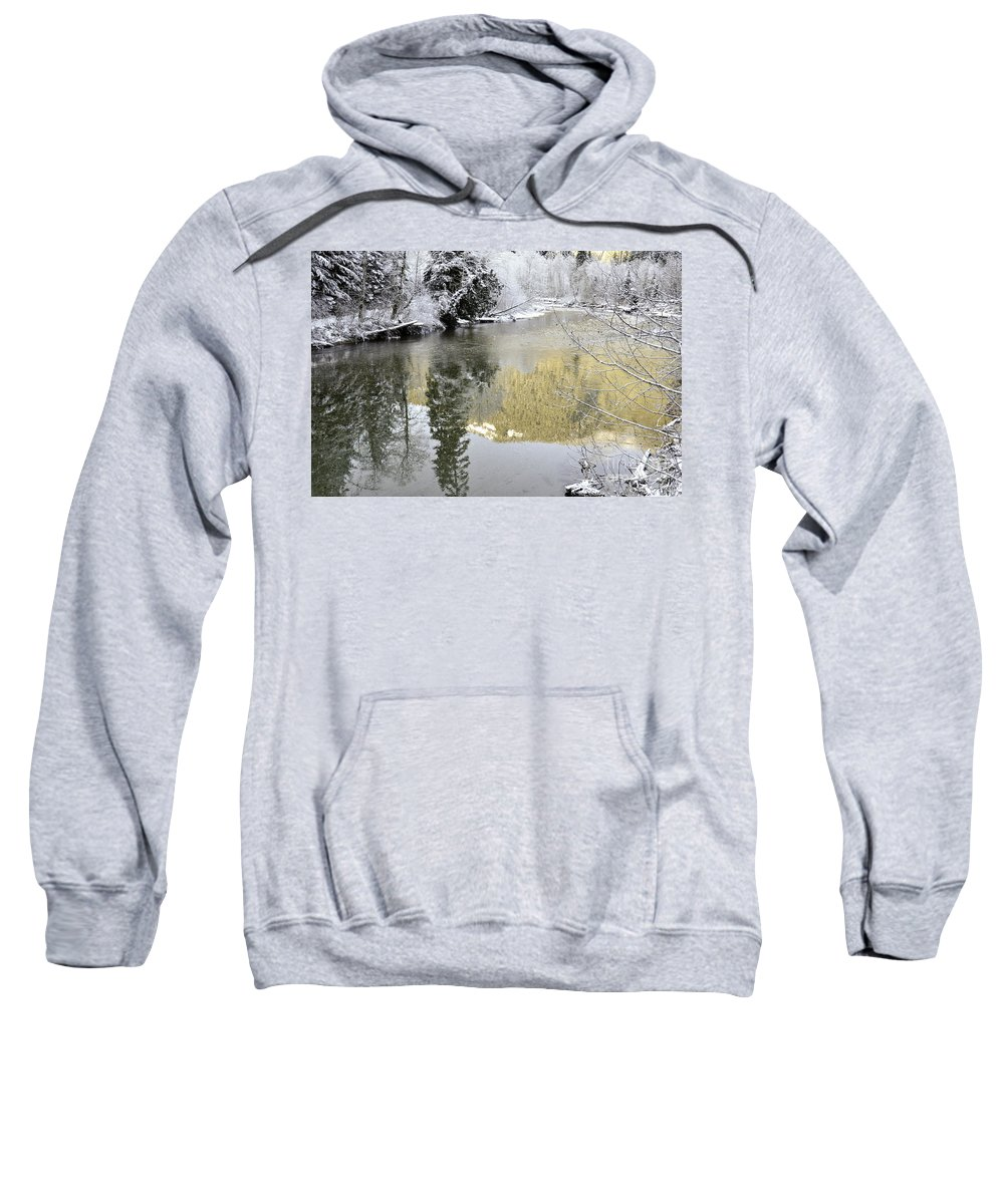 Clay Sweatshirt featuring the photograph Reflections Of Winter by Clayton Bruster
