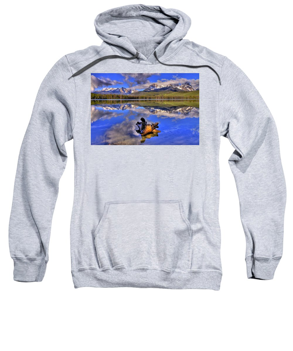 Rocky Mountains Sweatshirt featuring the photograph Reflections by Scott Mahon