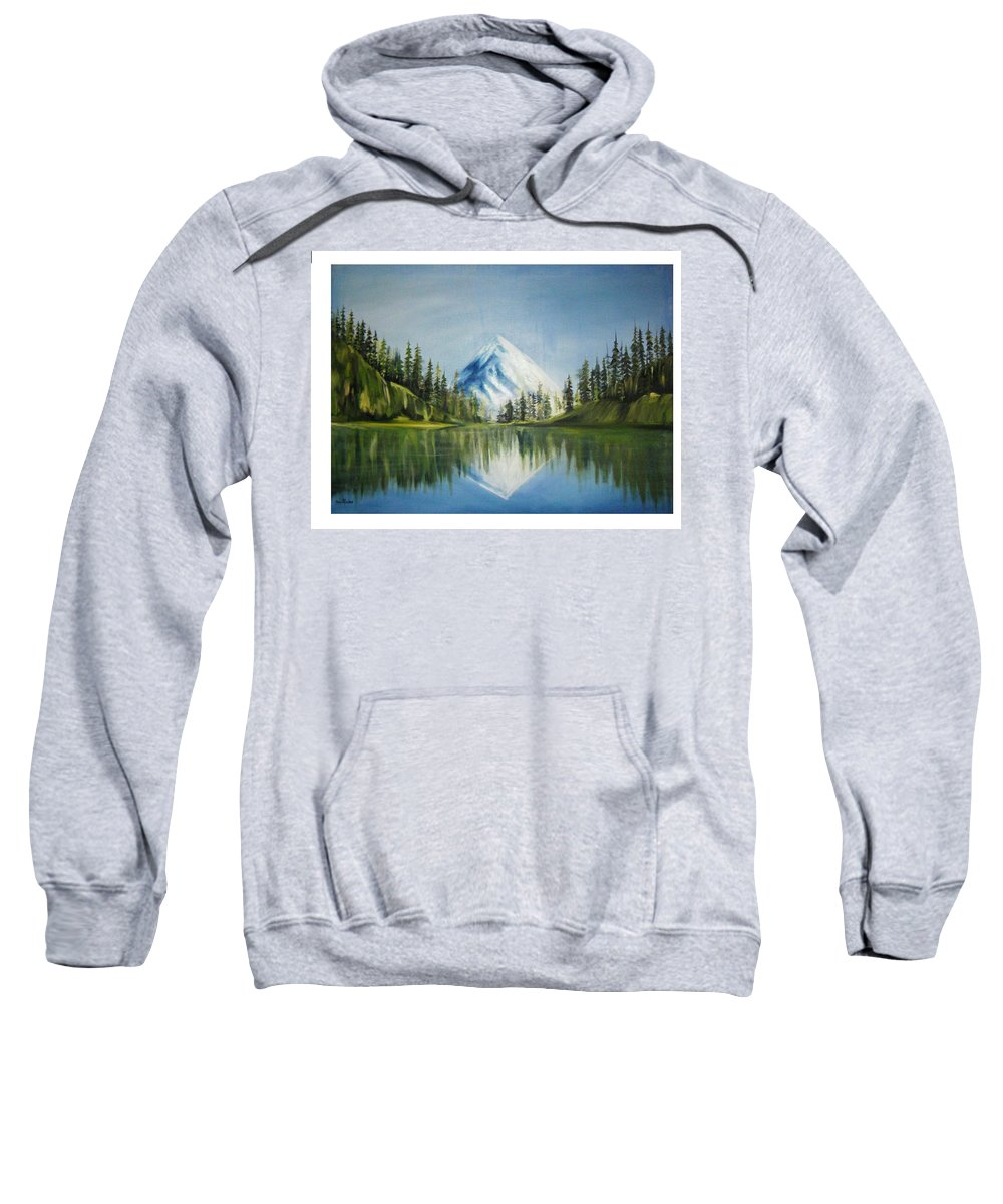 Oil Sweatshirt featuring the painting Reflexion 2 by Olaoluwa Smith
