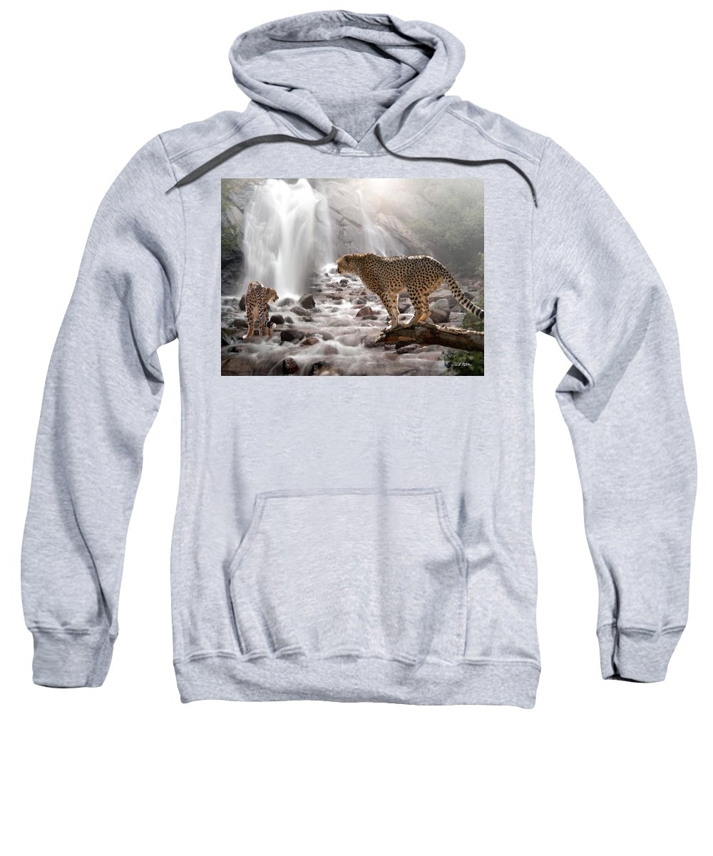Wildlife Sweatshirt featuring the digital art Refreshed by Bill Stephens