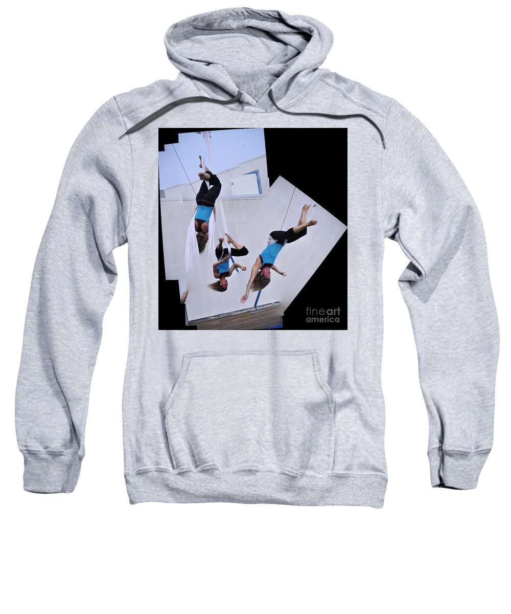 Clay Sweatshirt featuring the photograph Rehearsing by Clayton Bruster