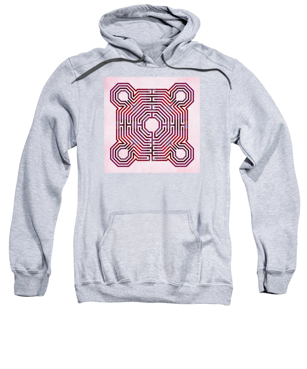 Labyrinth Art Sweatshirt featuring the digital art Reims - Dreams by Fine Art Labyrinths