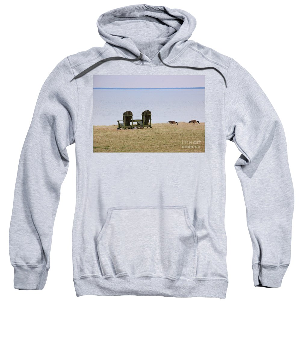 Chairs Sweatshirt featuring the photograph Relax by Debbi Granruth