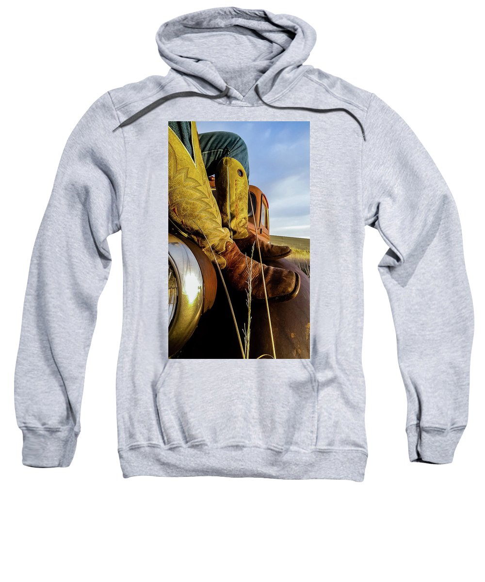Cattle Sweatshirt featuring the photograph Relax by Jeffrey A Earl
