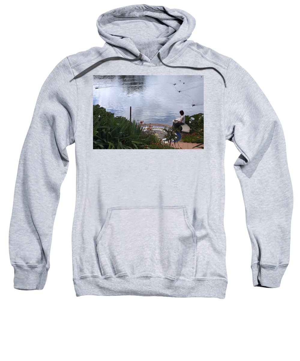 Turtle Lake Sweatshirt featuring the photograph Relaxing By The Lake by Sally Weigand