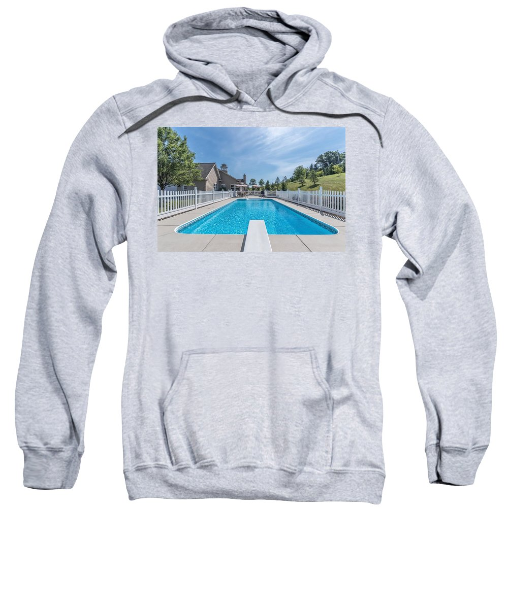 Florida Sweatshirt featuring the photograph Relaxing By The Pool2 by Joseph Toth