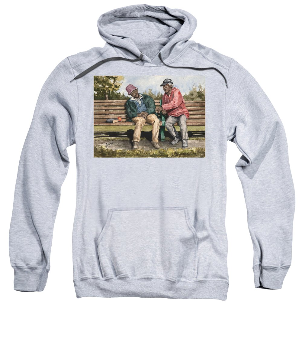 Park Sweatshirt featuring the painting Remembering The Good Times by Sam Sidders