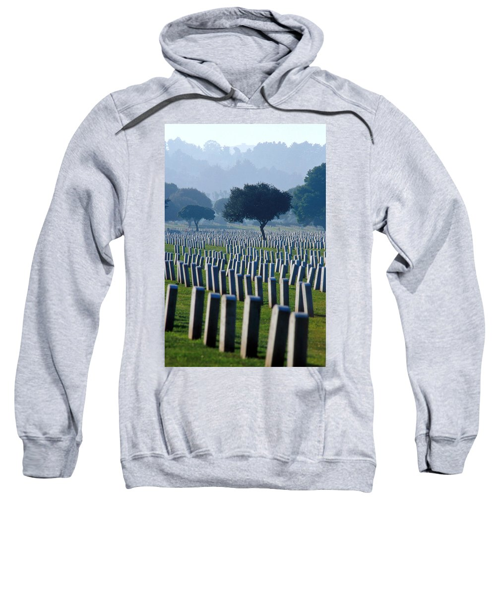National Cemetery Sweatshirt featuring the photograph Remembering Walt Bem by Jerry McElroy