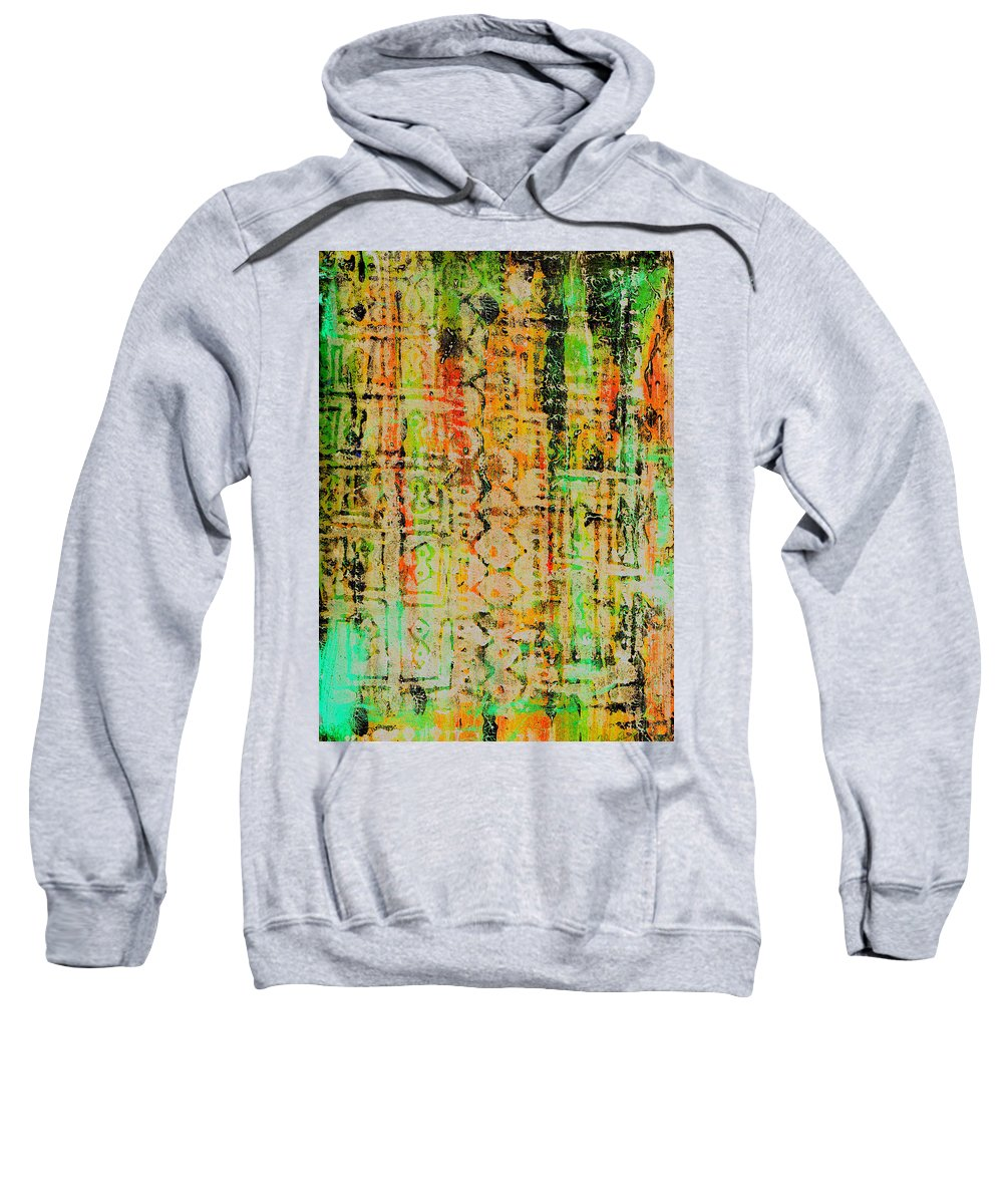 Monoprint Sweatshirt featuring the painting Remnants Of The Homeland by Wayne Potrafka
