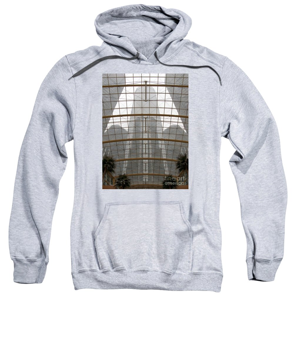 Detroit Sweatshirt featuring the photograph Rencen From Within by Ann Horn