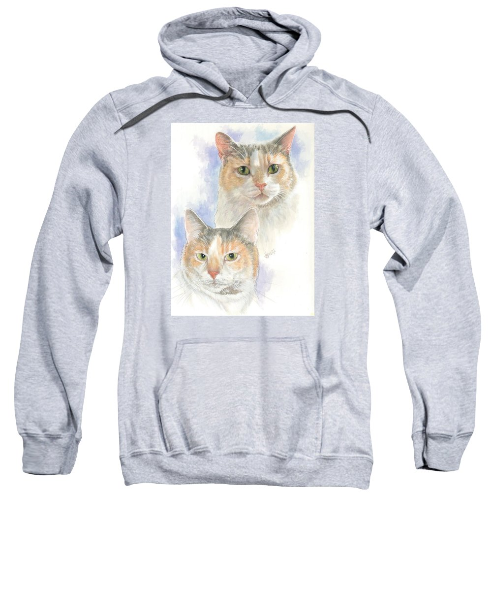 Domestic Sweatshirt featuring the mixed media Reno by Barbara Keith