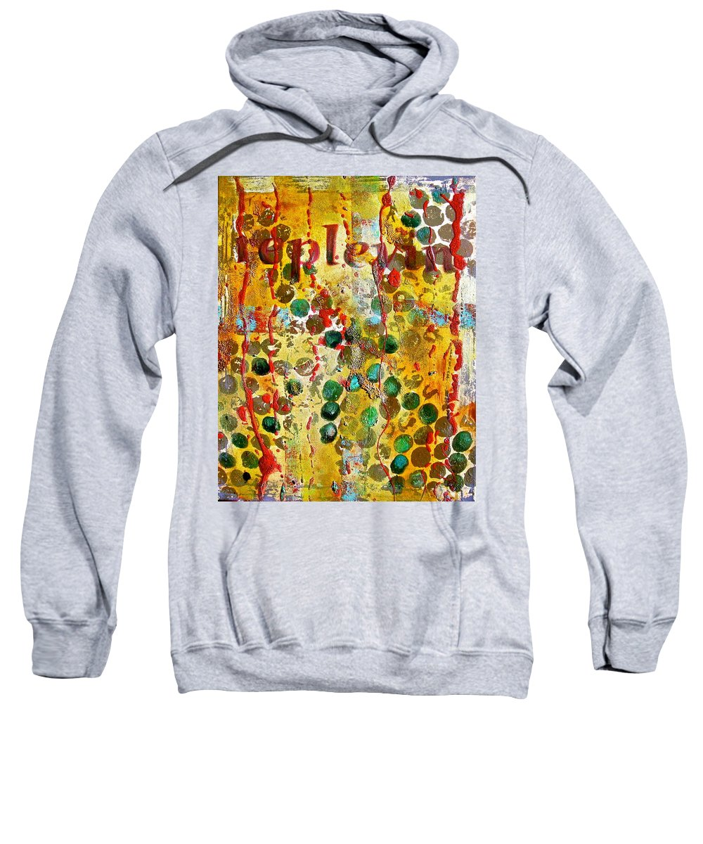 Abstract Art Sweatshirt featuring the painting Replevin by Laura Pierre-Louis