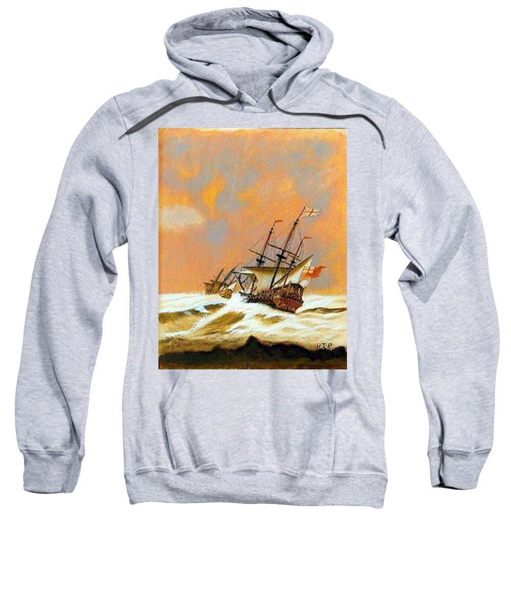 Resolution Sweatshirt featuring the painting Resolution by Richard Le Page