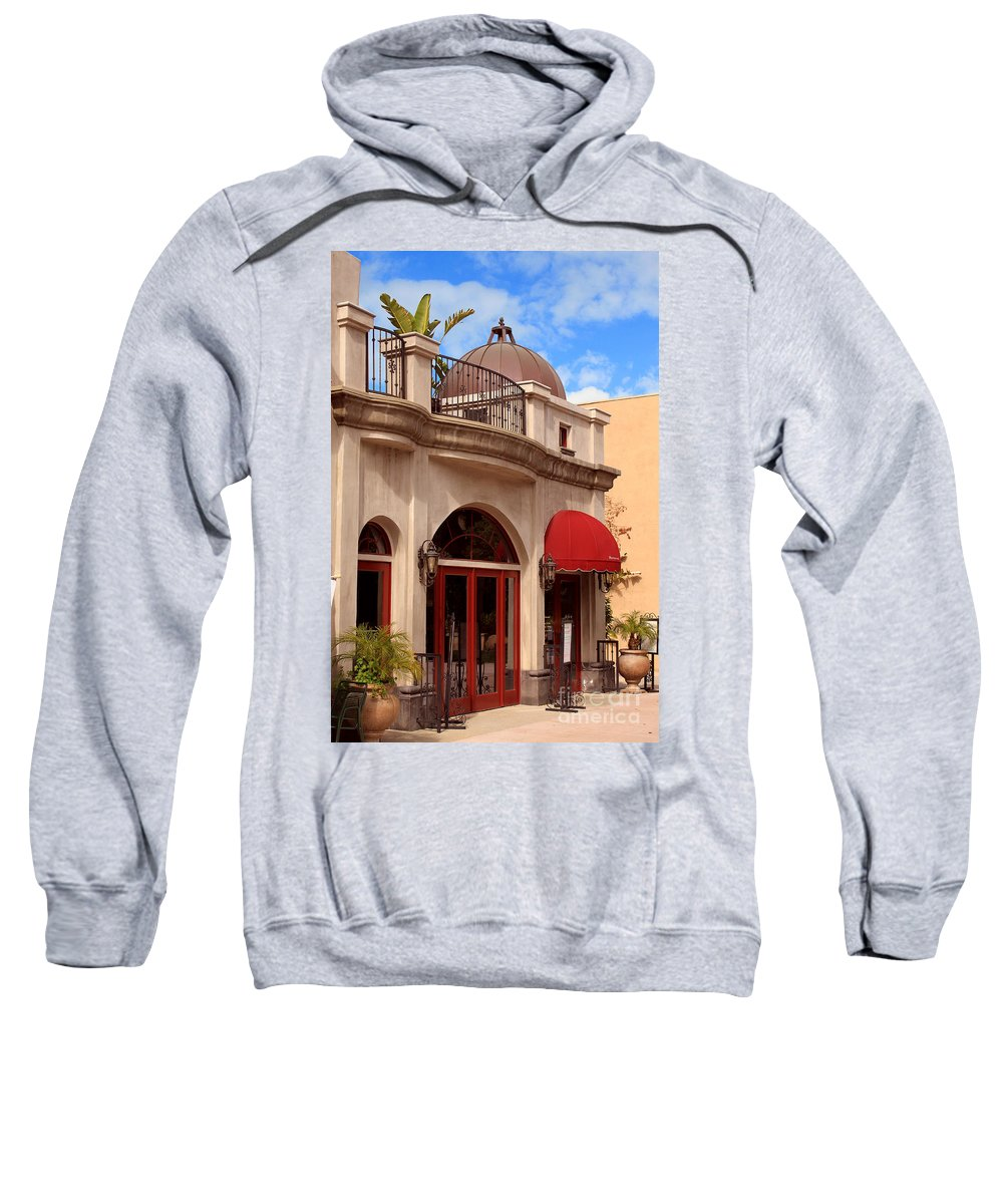 Quaint Sweatshirt featuring the photograph Restaurant In The Plaza by James Eddy