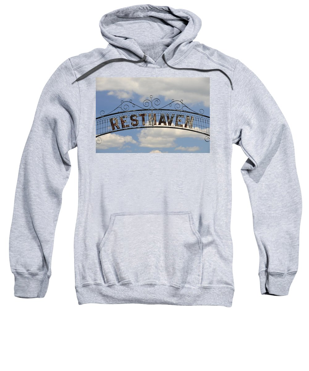 Resthaven Sweatshirt featuring the photograph Resthaven by David Arment