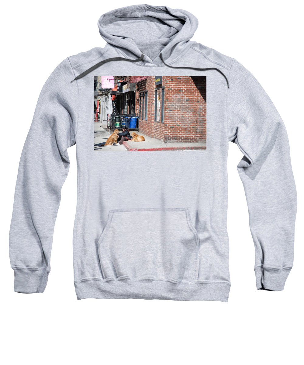 Girl Sweatshirt featuring the photograph Resting On The Corner by Rob Hans