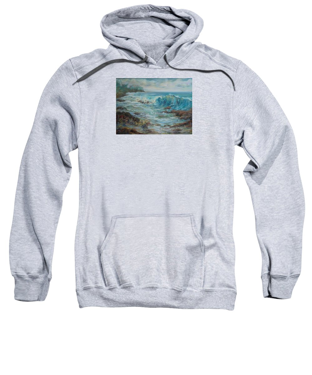 Seascape Sweatshirt featuring the painting Return To Innocence by Ginger Sandell