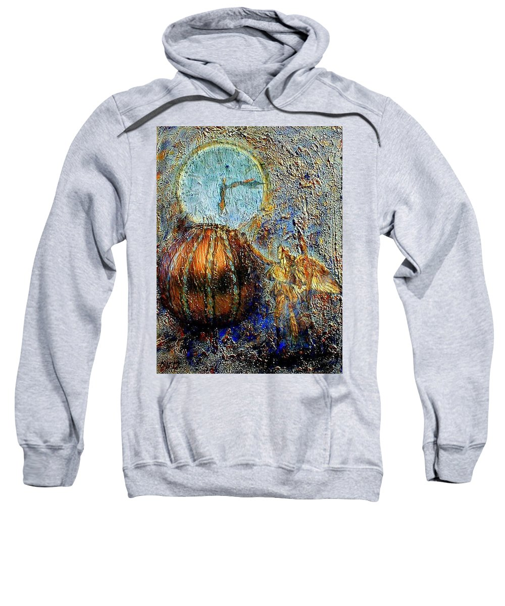 Christian Sweatshirt featuring the mixed media Revelation by Gail Kirtz