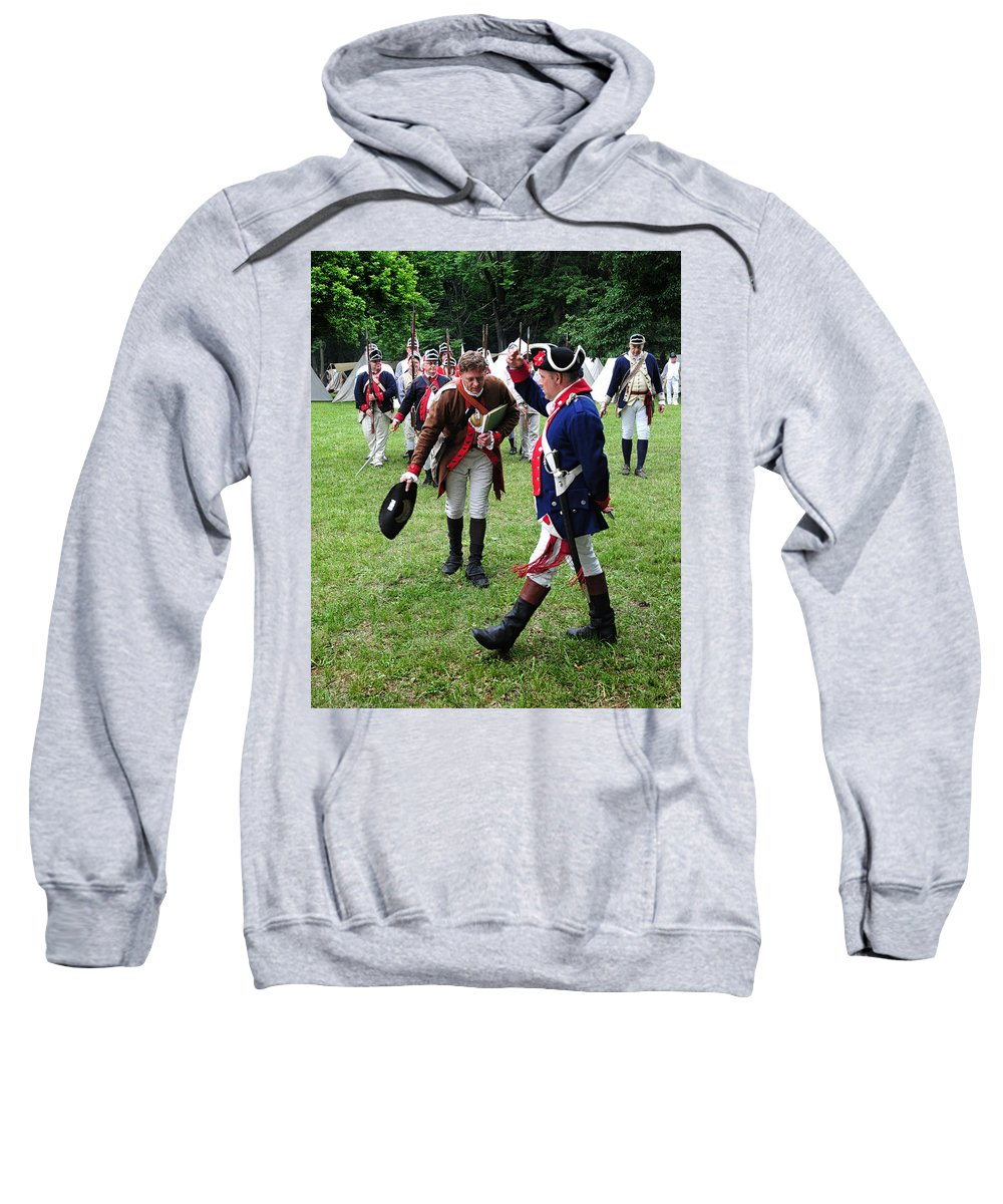 Continental Sweatshirt featuring the photograph Reviewing The Troops by Dave Mills
