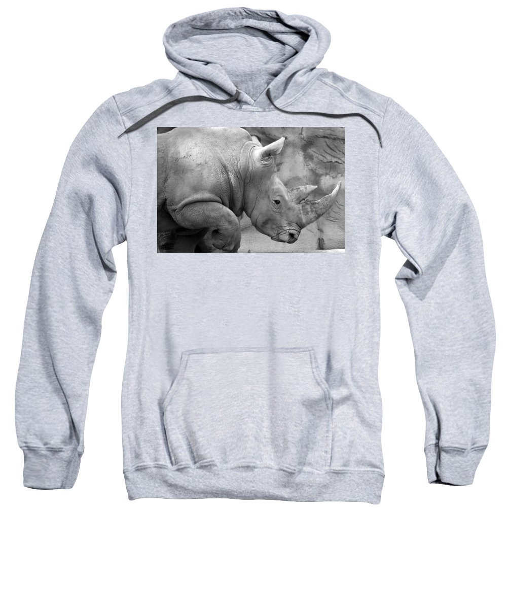 Rhinoceros Sweatshirt featuring the photograph Rhino Profile by Gordon Dean II