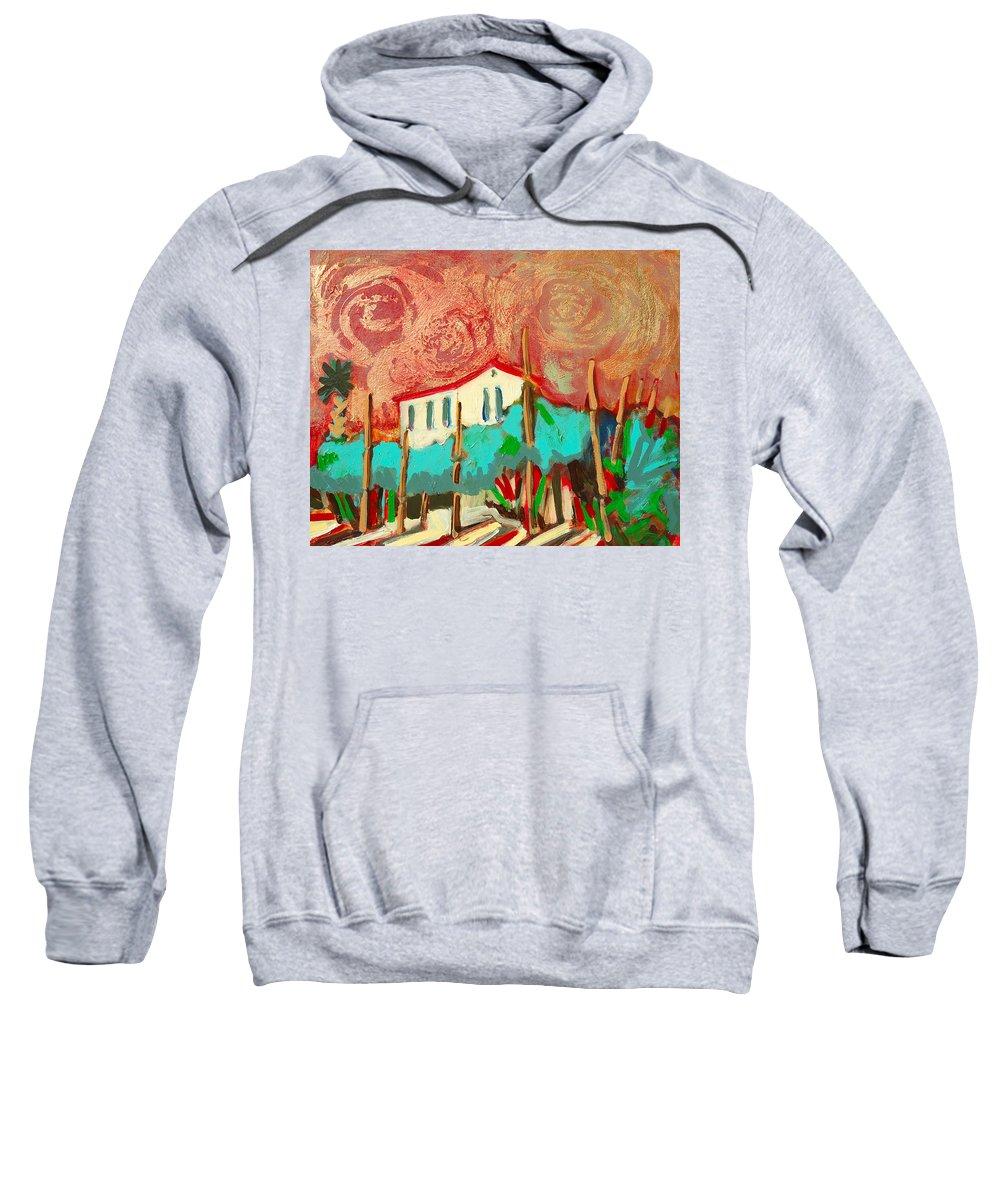 Tuscany Sweatshirt featuring the painting Ricordare by Kurt Hausmann