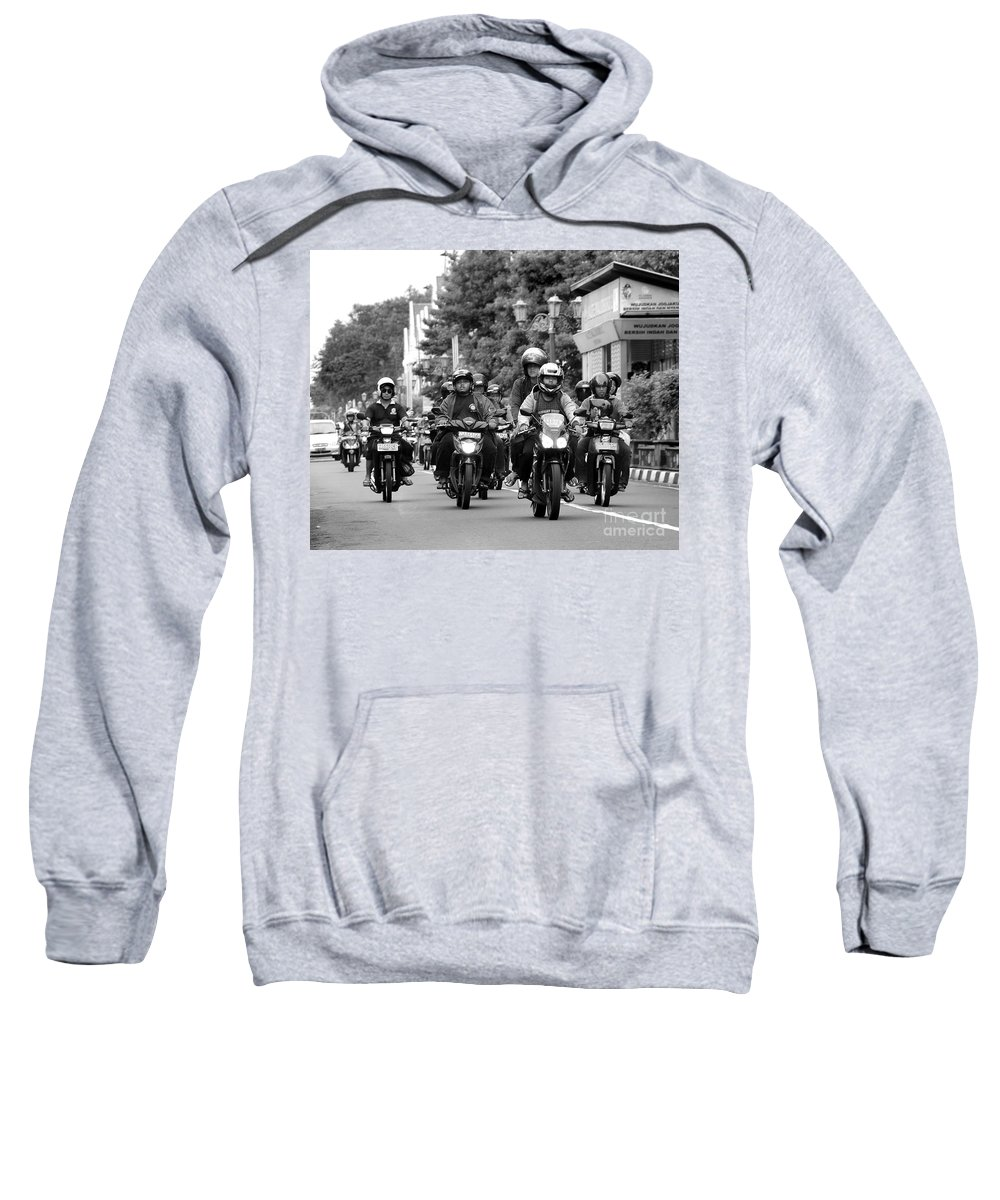 Riders Sweatshirt featuring the photograph Riders by Charuhas Images
