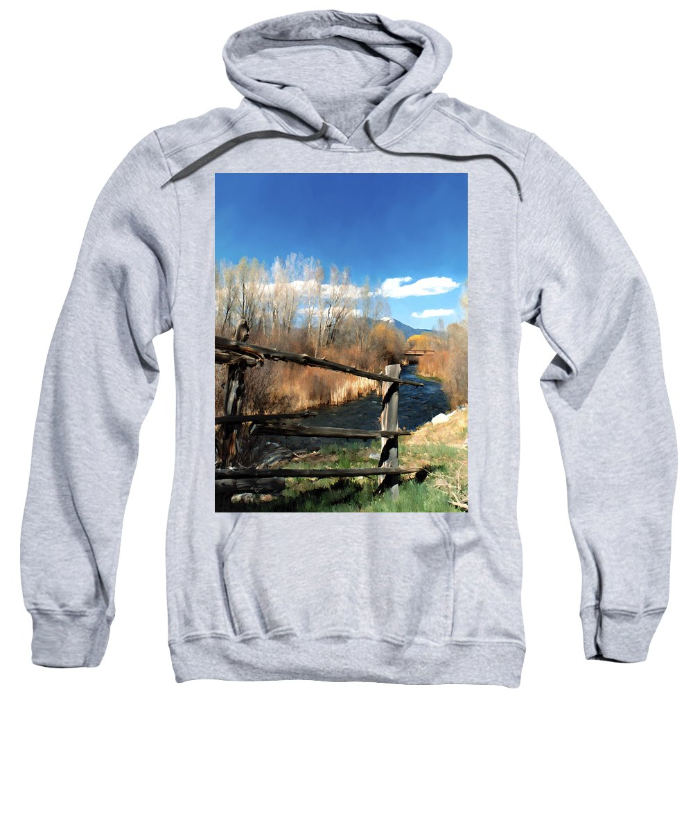 River Sweatshirt featuring the photograph Rio Pueblo by Kurt Van Wagner