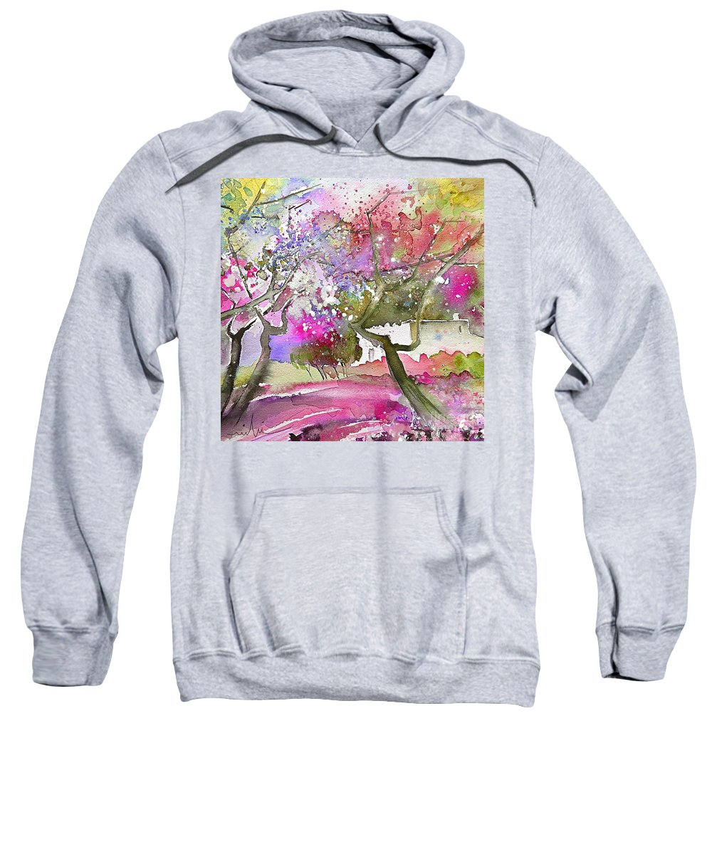 Spain Rioja Painting Travel Sketch Water Colour Miki Sweatshirt featuring the painting Rioja Spain 02 by Miki De Goodaboom